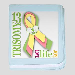 Trisomy 13 Awareness Ribbon baby blanket