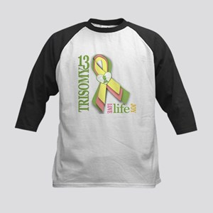 Trisomy 13 Awareness Ribbon Kids Baseball Jersey