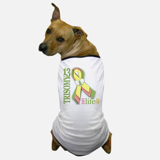 Trisomy 13 Awareness Ribbon Dog T-Shirt