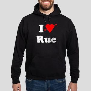 I Heart Love Rue Hoodie (dark)