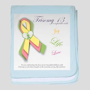 T13 Love, Life, Joy baby blanket