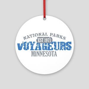 Voyageurs Park Minnesota Ornament (Round)