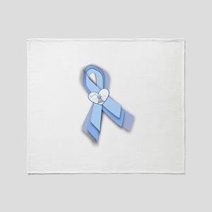 Trisomy 18 Ribbon Throw Blanket