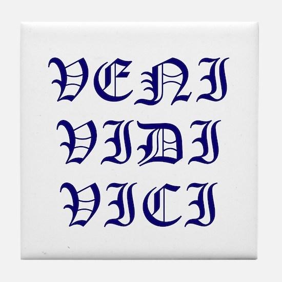 Unique Veni vidi vici Tile Coaster