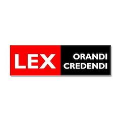 Lex Orandi Lex Credendi Car Magnet 10 x 3