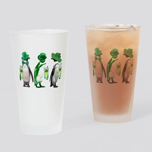 Irish penguins Drinking Glass
