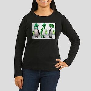 Irish penguins Women's Long Sleeve Dark T-Shirt