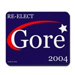 RE-ELECT GORE in 2004 Mousepad