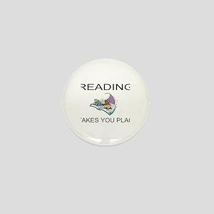 Reading Takes You Places Mini Button
