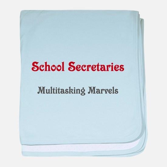 School Sec. Multitasking Marvels baby blanket