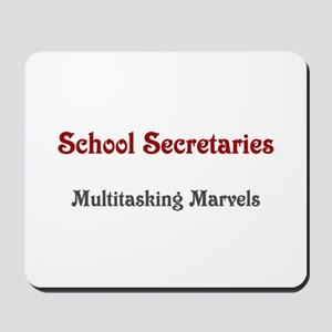 School Sec. Multitasking Marvels Mousepad