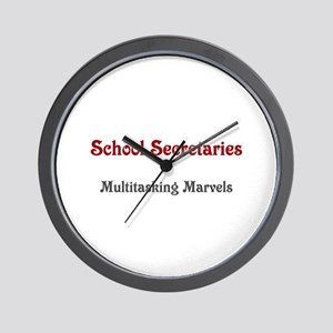 School Sec. Multitasking Marvels Wall Clock