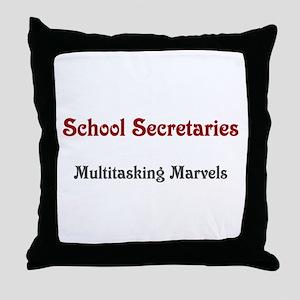 School Sec. Multitasking Marvels Throw Pillow