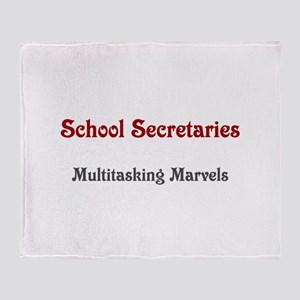 School Sec. Multitasking Marvels Throw Blanket