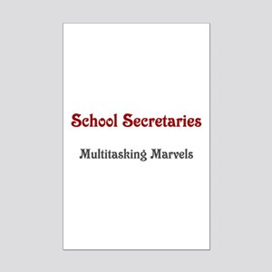 School Sec. Multitasking Marvels Mini Poster Print
