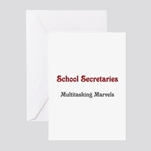 School Sec. Multitasking Marvels Greeting Cards (P