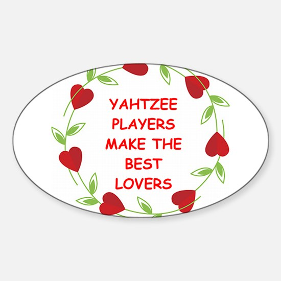 yahtzee Sticker (Oval)