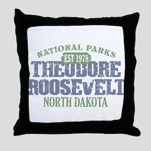 Theodore Roosevelt Park ND Throw Pillow