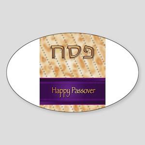 Happy Passover Sticker (Oval)