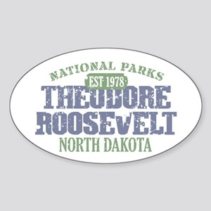 Theodore Roosevelt Park ND Sticker (Oval)