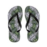 Grey Lace Calliope Flip Flops
