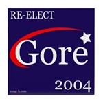 RE-ELECT GORE in 2004 Tile Coaster