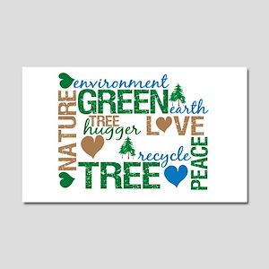 Live Green Montage Car Magnet 20 x 12
