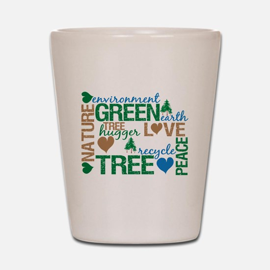 Live Green Montage Shot Glass