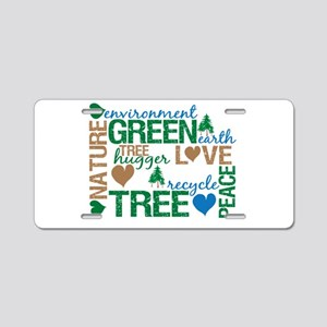 Live Green Montage Aluminum License Plate