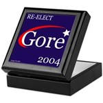 RE-ELECT GORE in 2004 Keepsake Box