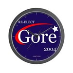 RE-ELECT GORE in 2004 Wall Clock
