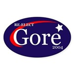 RE-ELECT GORE in 2004 Oval Sticker