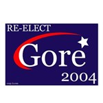 RE-ELECT GORE Postcards (Box of 8)