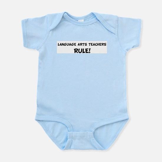 LANGUAGE ARTS TEACHERS Rule! Infant Creeper