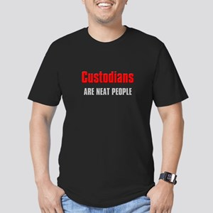 Custodians are Neat People Men's Fitted T-Shirt (d