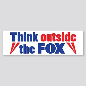 Think Outside the FOX Bumper Sticker
