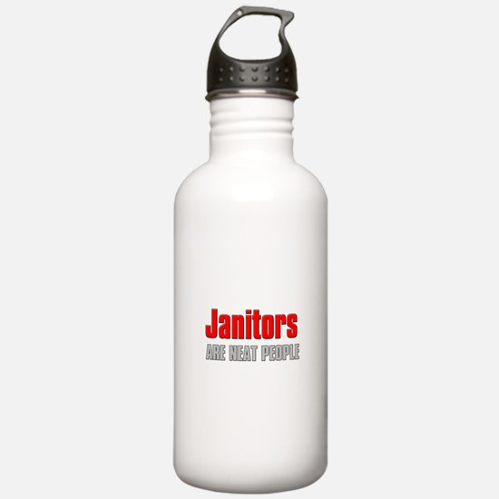 Janitors are Neat People Water Bottle