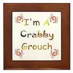 Crabby Grouch Framed Tile