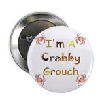 """Crabby Grouch 2.25"""" Button (10 pack)"""