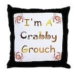 Crabby Grouch Throw Pillow