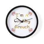 Crabby Grouch Wall Clock