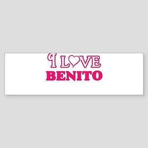 I Love Benito Bumper Sticker