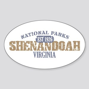 Shenandoah National Park VA Sticker (Oval)