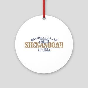 Shenandoah National Park VA Ornament (Round)