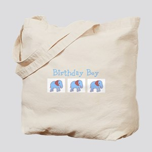 Birthday Boy Blue and Brown E Tote Bag