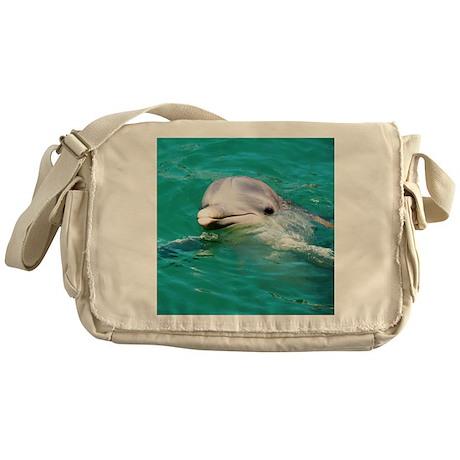 Dolphin in Caribbean Blue Wat Messenger Bag