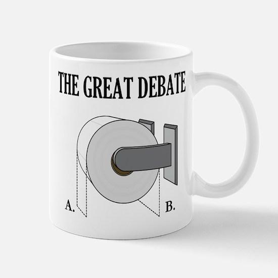 The Great Toilet Paper Debate Mug