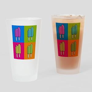 Popsicle Ice Cream Pop Art Drinking Glass