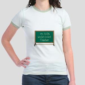 World's Coolest Teacher Jr. Ringer T-Shirt