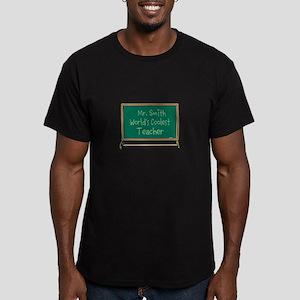World's Coolest Teacher Men's Fitted T-Shirt (dark